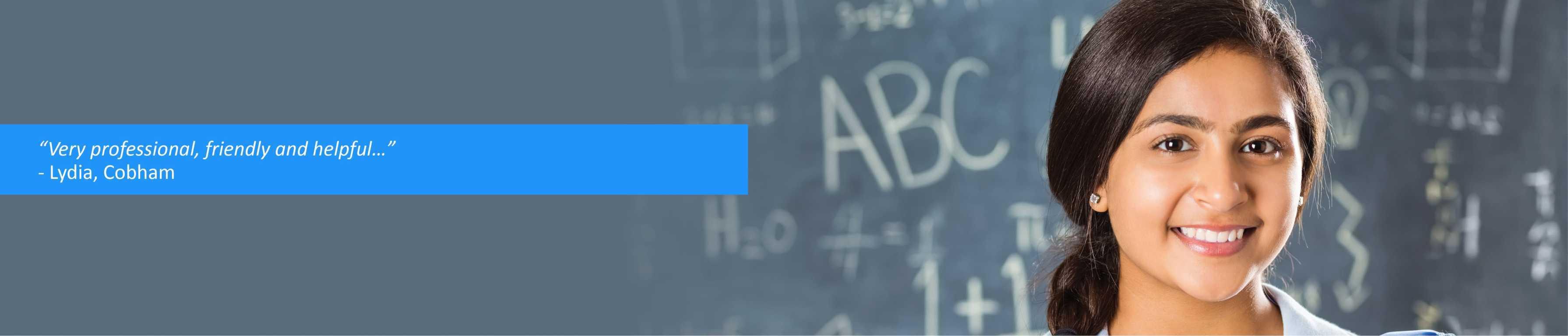 Girl with Maths Blackboard